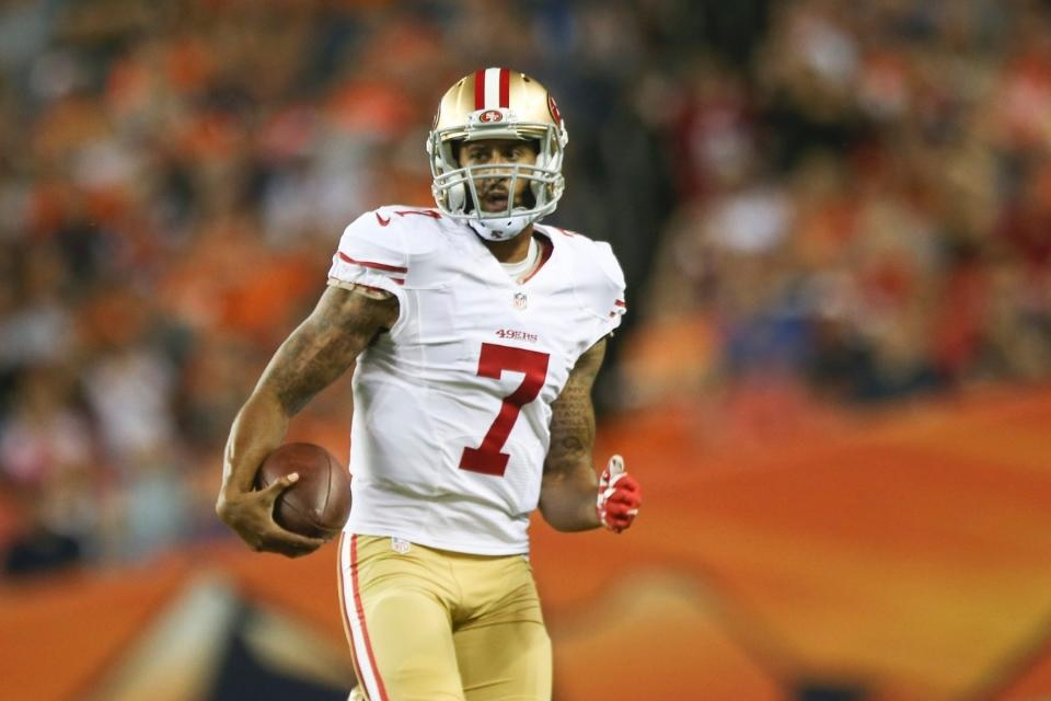 The cops are going after a 49ers quarterback, which just makes them look dumber. 49ers promo photo