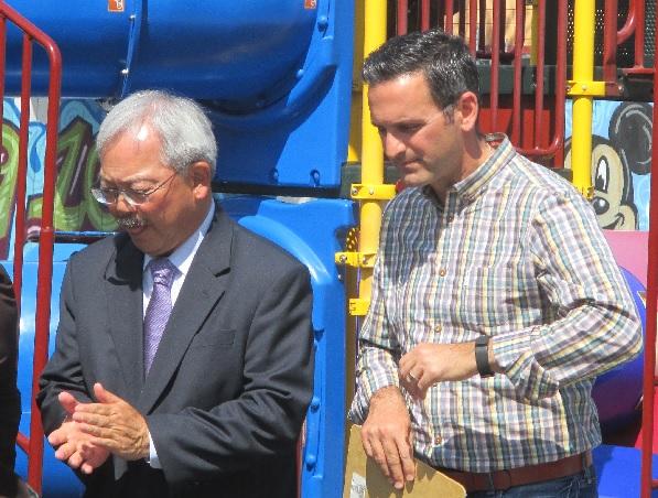 Mayor Ed Lee and Ahsha Safai