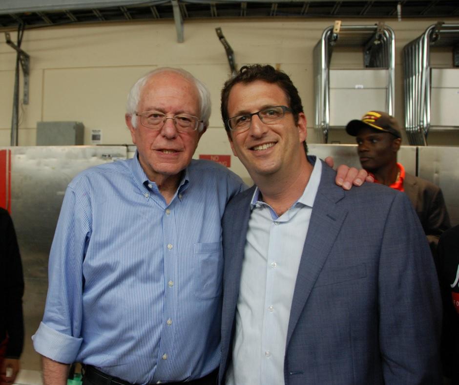 Sen. Sanders and Dean Preston