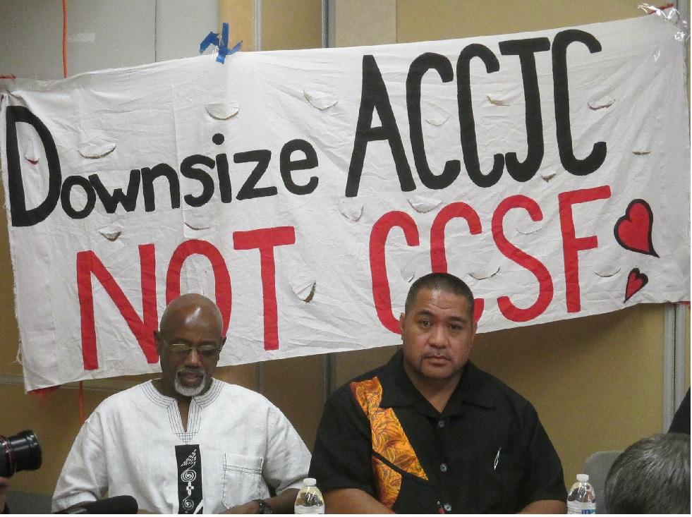 CCSF professors Tarik Farrar and David Palaita talk about the damage that the ACCJC has done to City College