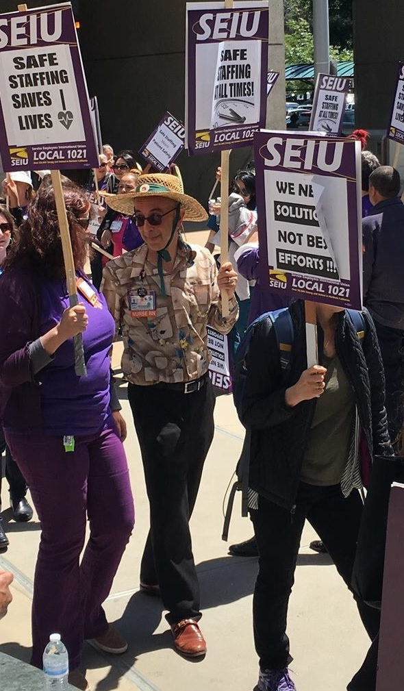 The author protests staff cuts at Wells Fargo Plaza