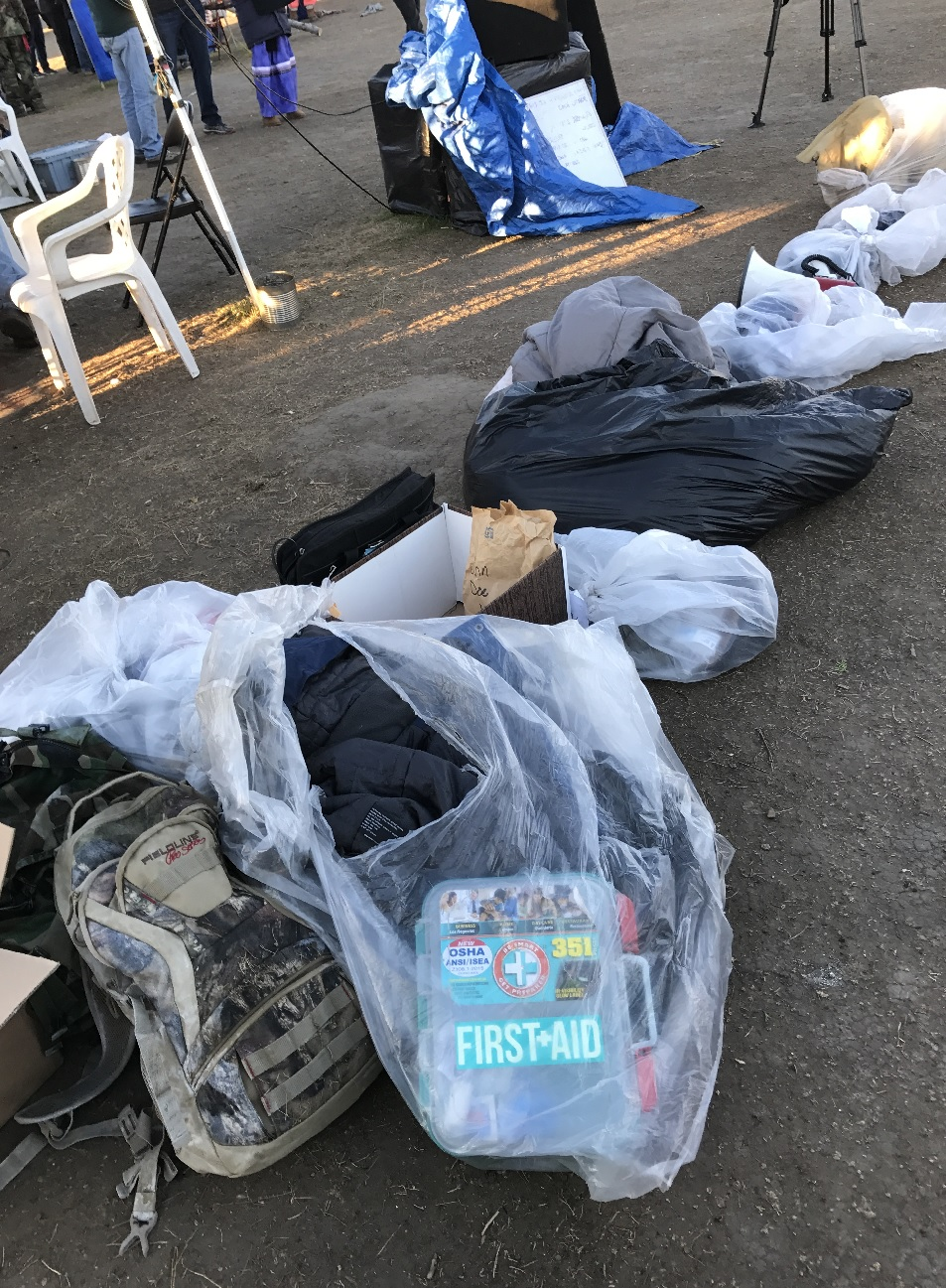 Confiscated possessions were just dumped out of a truck