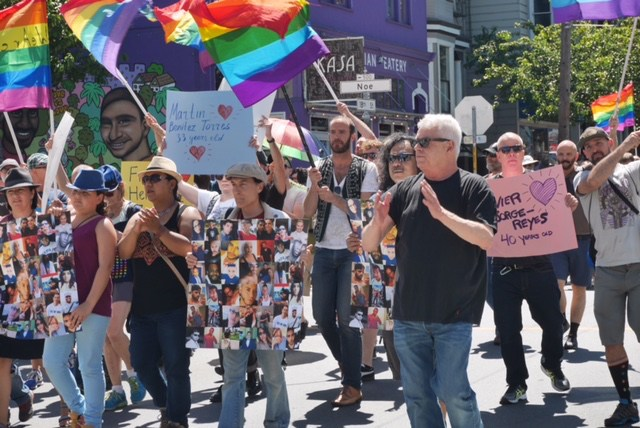 In June, Jones led the march from the Castro to the Mission honoring the victims of the Pulse Nightclub massacre. Photo by David Schnur