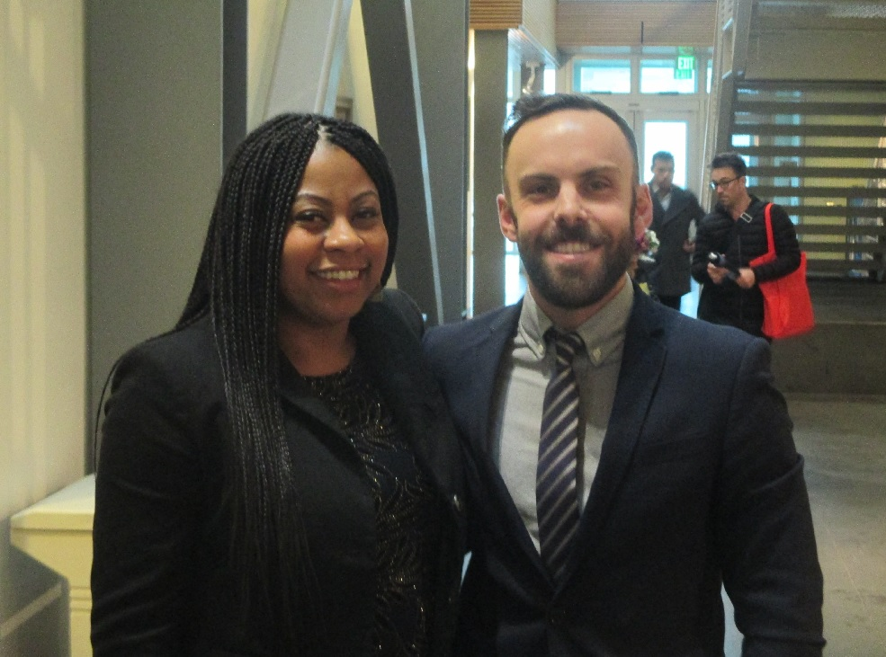 Tom Temprano and Shanell Williams