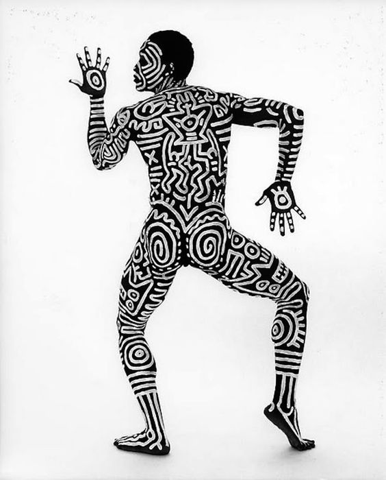 Bill T. Jones painted by Keith Haring, 1983