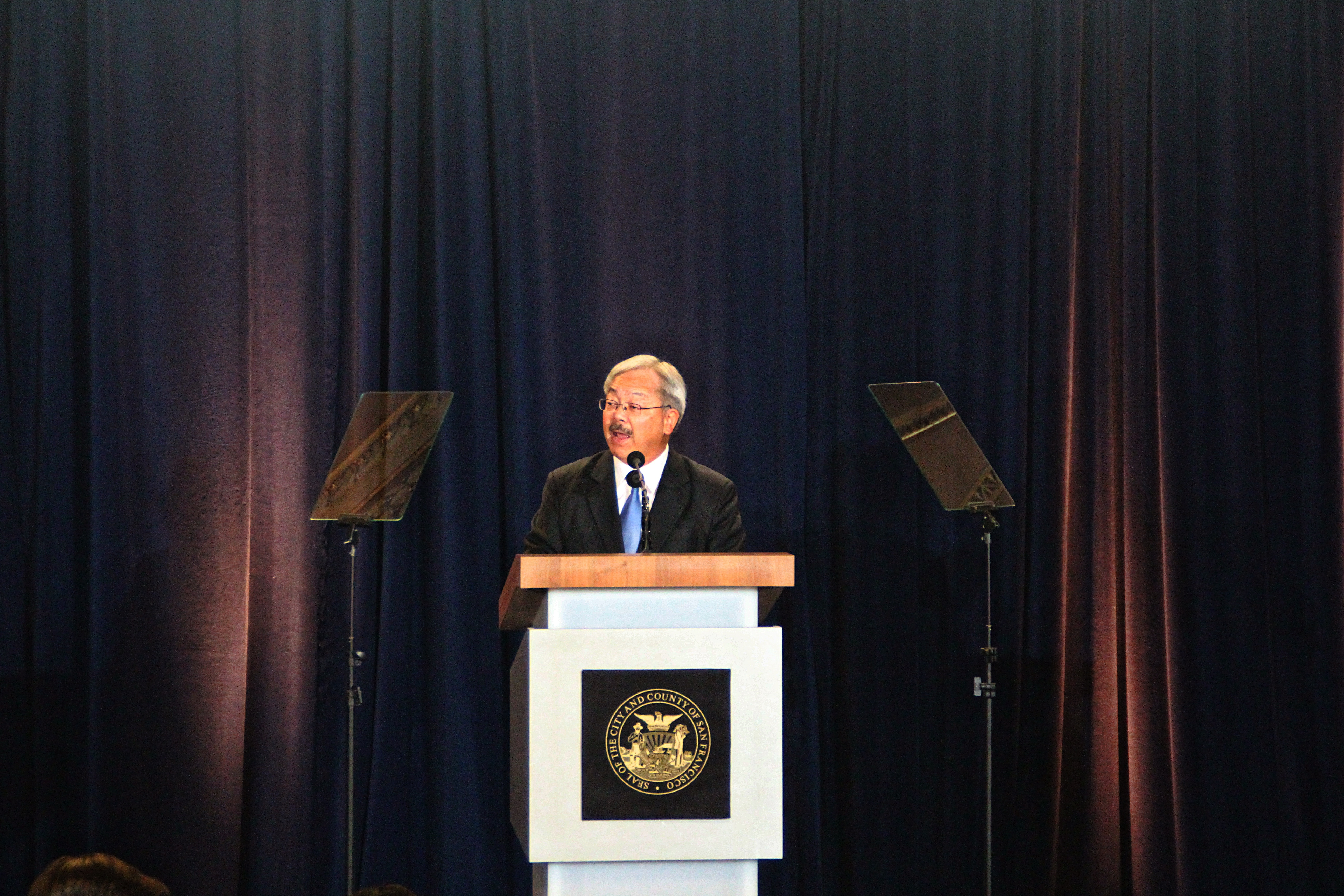 Mayor Ed Lee's state of the city address touched upon some of the pressing issues the city is facing: housing crisis, homelessness, dwindling trust in the police and San Francisco taking a stance against Trump's onslaught on minorities and immigrants. Photo by Sana Saleem.