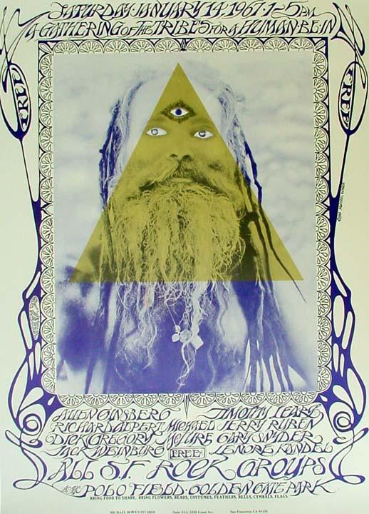 Original 1969 Human Be-In poster.
