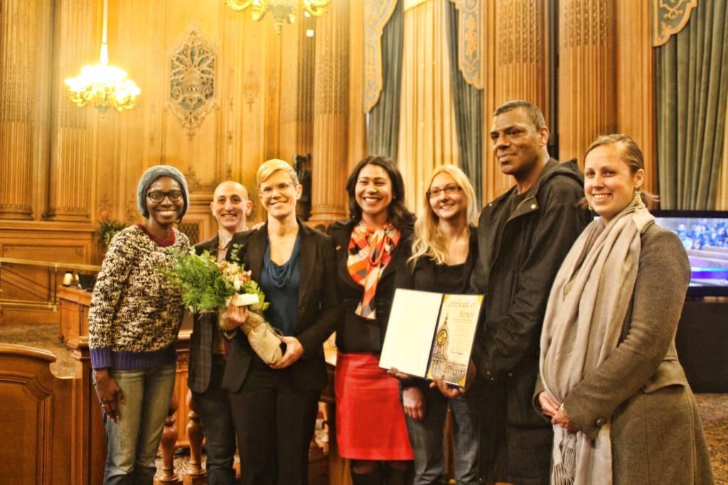 President London Breed alongwith Women's Community Clinic team. Photo by Sana Saleem.