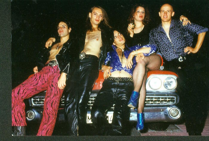 Kafana Balkan founder Željko Petković (second from left) during his youthful partying days in Serbia.
