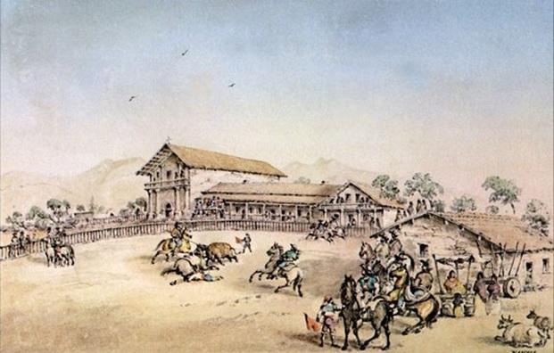 Mission Dolores around 1800 (Mission California)