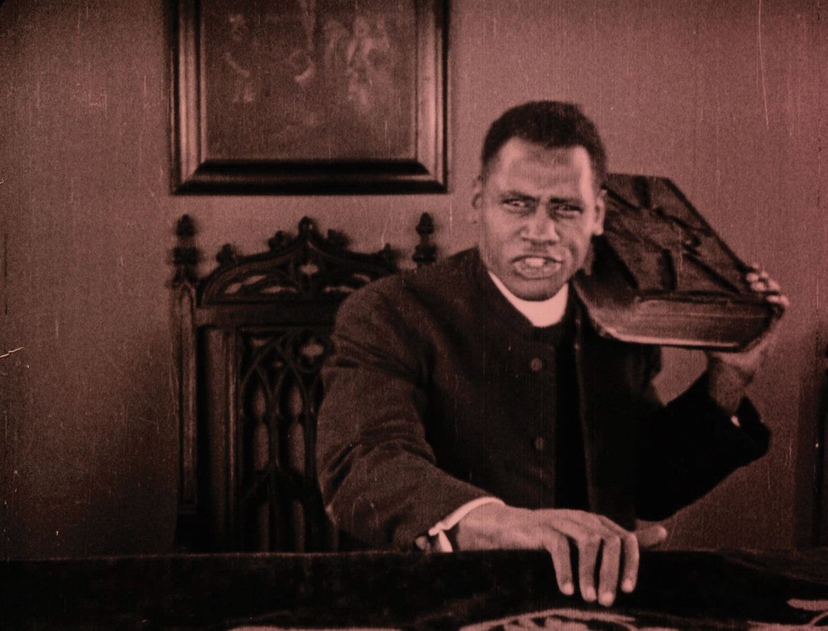 Paul Robeson plays a dual role in Osca Micheaux's melodrama 'Body and Soul.'