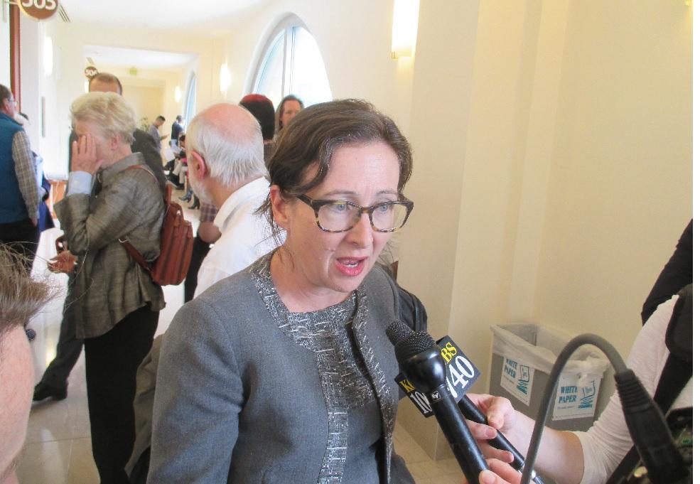 Deputy City Attorney Christine Van Aken says it's ironic that Newsom's team wants to dismiss the voters