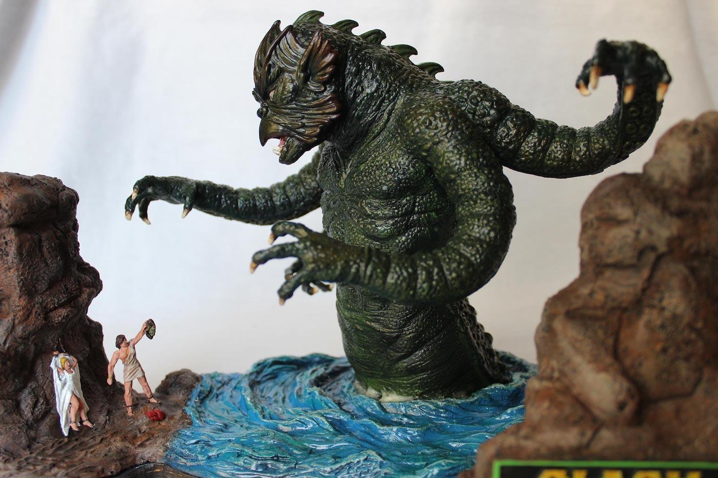"geekwarrior77: "" Original Ray Harryhausen's stop-motion ...  Kraken Clash Of The Titans 1981"